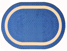 "Sharing Circle© Classroom Rug, 5'4""  Round Blue"