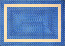 "Sharing Circle© Classroom Rug, 5'4"" x 7'8"" Rectangle Blue"