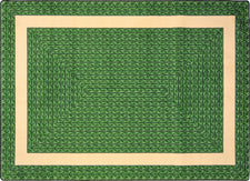 "Sharing Circle© Classroom Rug, 5'4"" x 7'8"" Rectangle Green"