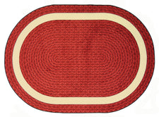 "Sharing Circle© Classroom Rug, 5'4"" x 7'8""  Oval Red"