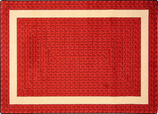 "Sharing Circle© Classroom Rug, 3'10"" x 5'4"" Oval Red"