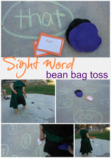Sight Word Bean Bag Toss - w/ a Holiday Twist!