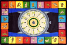 "Signs of the Time© Classroom Circle Time Rug, 7'8"" x 10'9"" Rectangle"