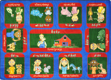 "Signs on the Farm© Classroom Rug, 7'8"" x 10'9"" Rectangle"