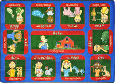 "Signs on the Farm© Classroom Rug, 5'4"" x 7'8"" Rectangle"