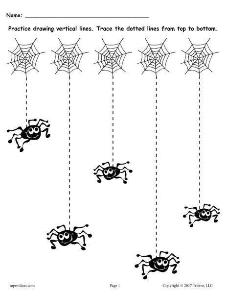 Printable Halloween Line Tracing Worksheets Supplyme