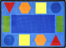 "Sitting Shapes© Primary Classroom Circle Time Rug, 7'8"" x 10'9"" Rectangle"