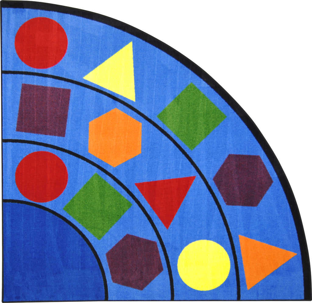Large Classroom Rug Cheap: Joy Carpets Sitting Shapes© Primary Classroom Rug, 6'7