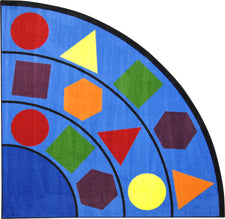 "Sitting Shapes© Primary Classroom Rug, 6'7"" Corner"