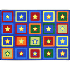 "Joy Carpets Sitting Stars™ Classroom Circle Time & Seating Rug, 5'4"" x 7'8"" Rectangle"