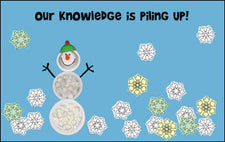 Our Knowledge is Piling Up! - Winter Bulletin Board Idea