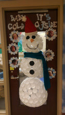 """Baby It's Cold Outside"" - 3D Snowman Classroom Door Decoration"