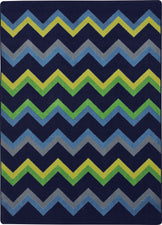"Sonic© Navy Classroom Rug, 5'4"" x 7'8"" Rectangle"