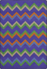 "Sonic© Violet Classroom Rug, 5'4"" x 7'8"" Rectangle"