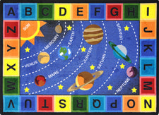 "Space Alphabet© Classroom Circle Time Rug, 7'8"" x 10'9"" Rectangle"