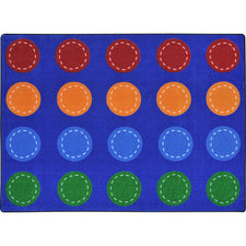 "Spaces and Places™ Classroom Circle Time & Seating Rug, 5'4"" x 7'8"" Rectangle (seats 20)"