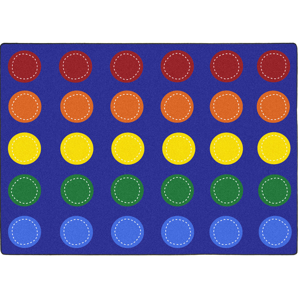 "Spaces and Places™ Classroom Circle Time & Seating Rug, 7'8"" x 10'9"" Rectangle (seats 30)"
