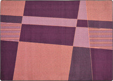 "Spazz© Kid's Play Room Rug, 3'10"" x 5'4"" Rectangle Purple"