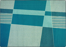 "Spazz© Kid's Play Room Rug, 3'10"" x 5'4"" Rectangle Teal"