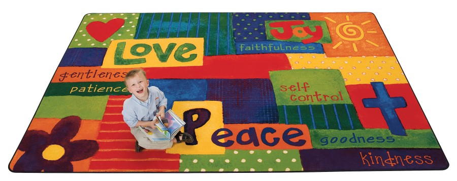 Spiritual Fruit Painted KID$ Value PLUS Discount Seating Rug, 6' x 9' Rectangle