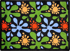 "Splat© Classroom Rug, 5'4"" x 7'8"" Rectangle Black"