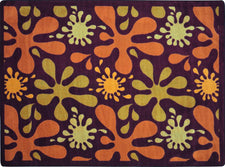 "Splat© Classroom Rug, 5'4"" x 7'8"" Rectangle Burgundy"