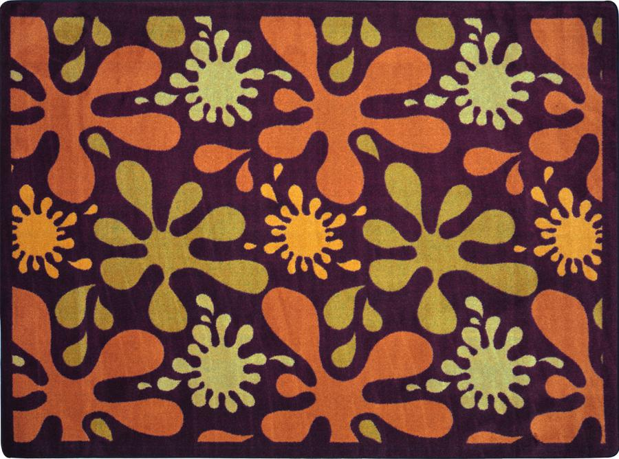 "Splat© Classroom Rug, 7'8"" x 10'9"" Rectangle Burgundy"