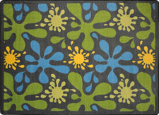 "Splat© Classroom Rug, 3'10"" x 5'4"" Rectangle Gray"