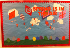"""Spring is in the Air!"" - Classroom Bulletin Board Decoration"