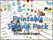 Spring Preschool Pack from 3 Dinosaurs!