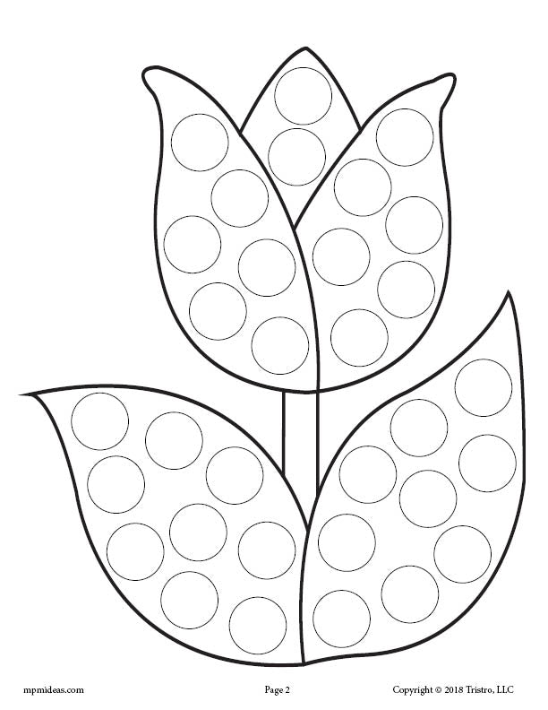dot art coloring pages free - photo#17