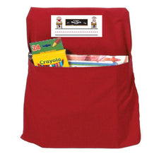 Red Seat Sack, Small 12 Inch Chair Storage Pocket