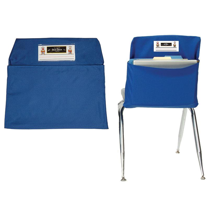 Blue Seat Sack, Large 17 Inch Chair Storage Pocket