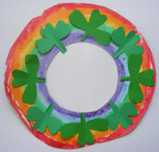 Colorful St. Patrick's Day Wreath Craft