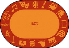 "STEAM™ Classroom Seating Rug, 7'8"" x 10'9"" Oval - Art"