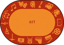 "STEAM™ Classroom Seating Rug, 5'4"" x 7'8"" Oval - Art"