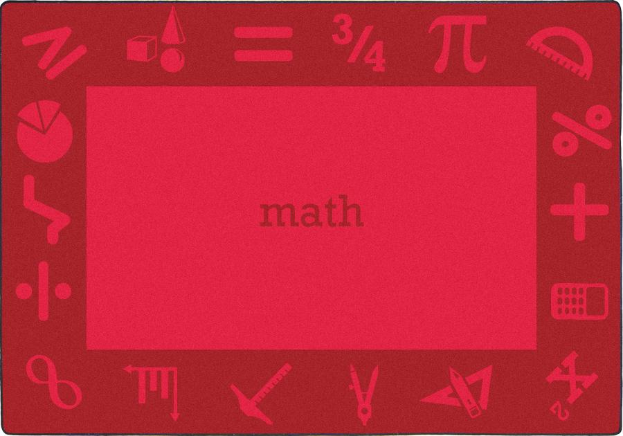 "STEAM™ Classroom Seating Rug, 7'8"" x 10'9"" Rectangle - Math"