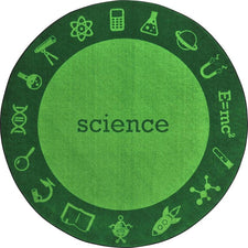"STEAM™ Classroom Seating Rug, 7'7"" Round - Science"