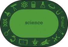 "STEAM™ Classroom Seating Rug, 7'8"" x 10'9"" Oval - Science"