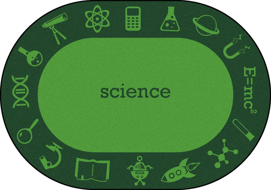 "STEAM™ Classroom Seating Rug, 5'4"" x 7'8"" Oval - Science"