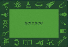 "STEAM™ Classroom Seating Rug, 7'8"" x 10'9"" Rectangle - Science"
