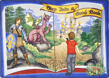 "Step Into A Good Book© Classroom Rug, 7'8"" x 10'9"" Rectangle"