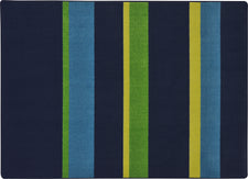 "Straight and Narrow© Navy Classroom Rug, 5'4"" x 7'8"" Rectangle"