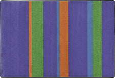 "Straight and Narrow© Violet Classroom Rug, 5'4"" x 7'8"" Rectangle"