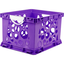 Premium File Crate with Handles, Purple