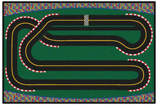 Super Speedway KID$ Value Discount Racetrack Rug, 4' x 6' Rectangle