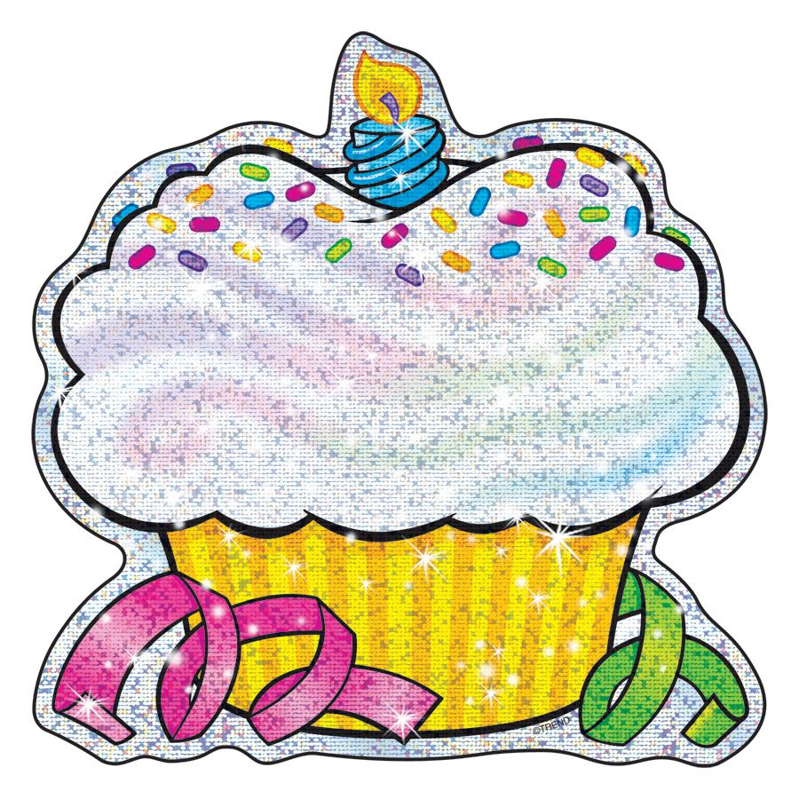 Sparkle Accents 24 Pk Birthday Cupcakes 5 X 5 T 10101