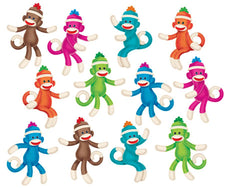 Sock Monkeys (Solids) Classic Accents® Variety Pack