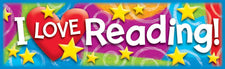 I LOVE Reading (Stars 'n Swirls) Bookmarks
