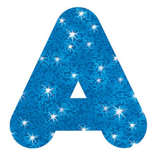 Blue Sparkle 4-Inch Casual Uppercase Ready Letters®